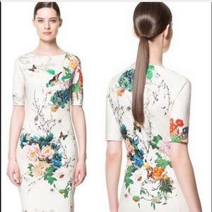 Zara Printed Sheath Dress Sz S NWT RARE